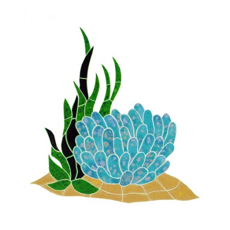 Reef Anemone Accent Swimming Pool Mosaic Tile